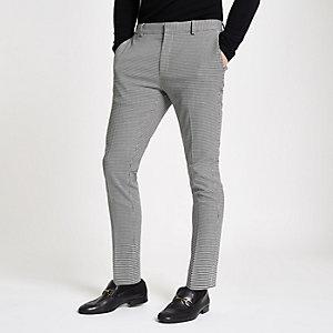 Olly Murs – Pantalon super skinny noir à carreaux