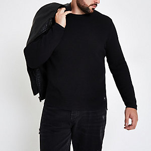 Only & Sons – Big & Tall – Pull ras-du-cou noir