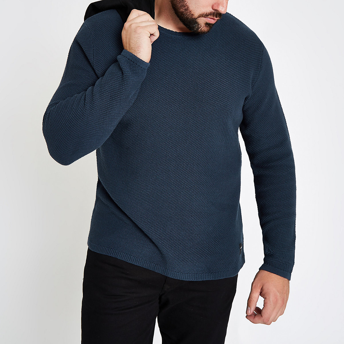 Only & Sons Big and Tall navy sweater