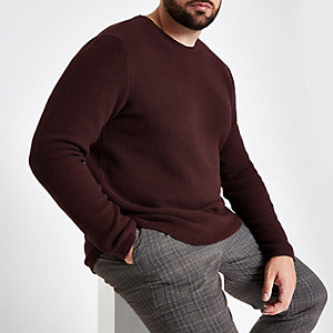 Only & Sons – Pull Big & Tall bordeaux