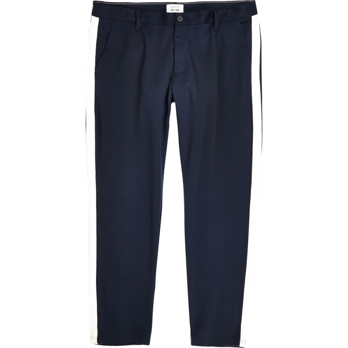 Only & Sons Big & Tall navy tape pants