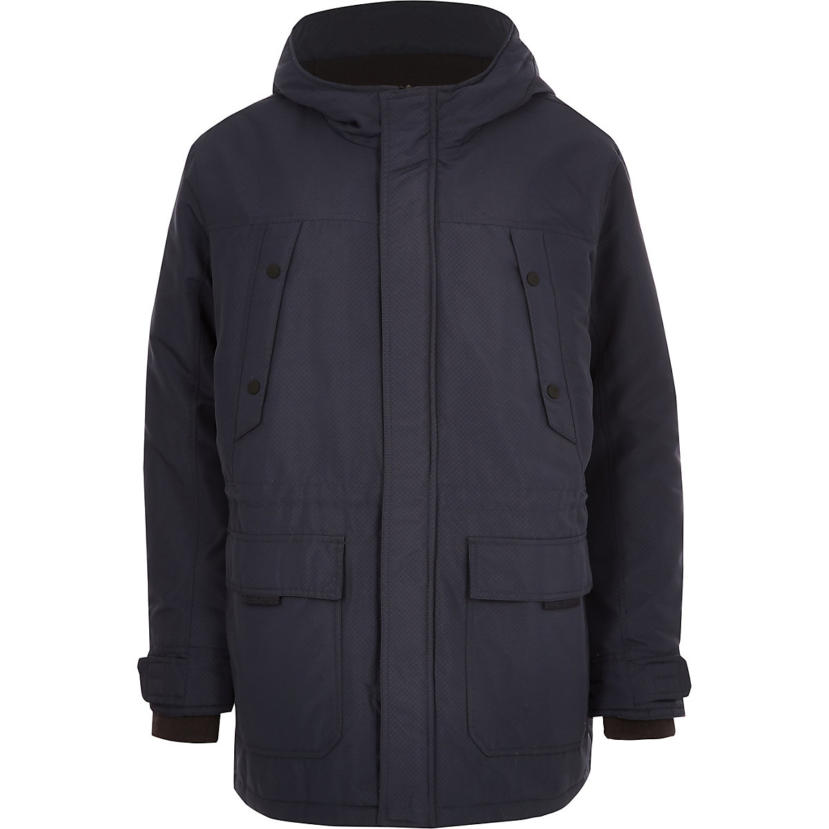 Only & Sons Big and Tall navy padded parka