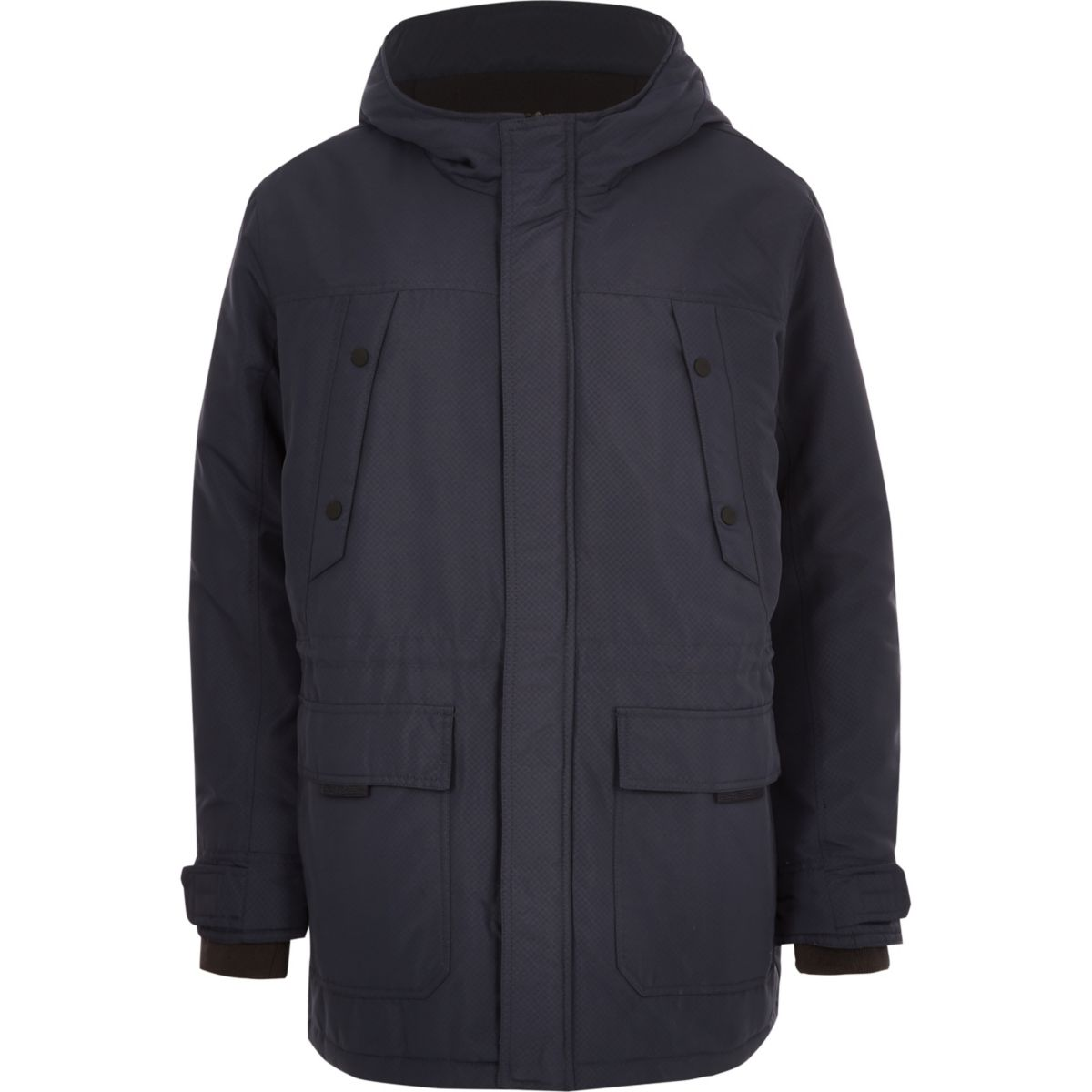 Only & Sons Big & Tall navy padded parka