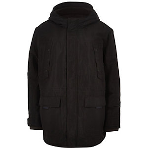Only & Sons Big & Tall black padded parka