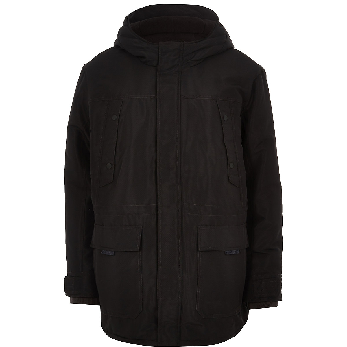 Only & Sons Big and Tall black padded parka