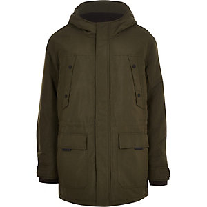 Only & Sons – Big & Tall – Parka matelassée verte