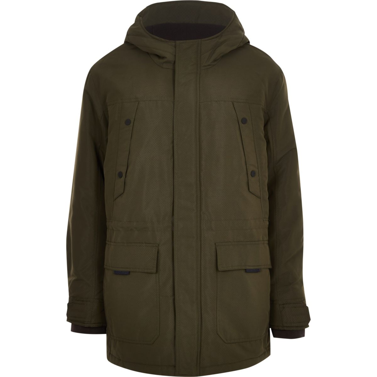 Only & Sons Big & Tall green padded parka