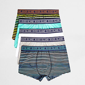 Green stripe print ombre hipsters 5 pack