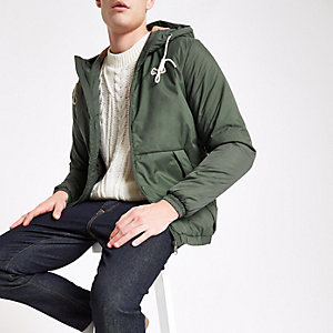 Jack & Jones khaki hooded parka jacket