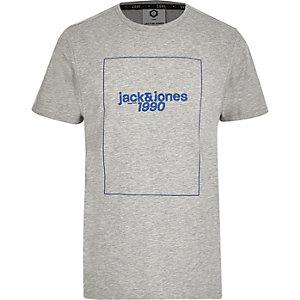 Jack & Jones – Graues T-Shirt mit Print