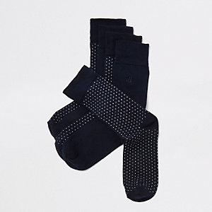 Lot de chaussettes imprimées bleu marine