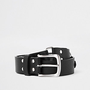 Black studded detail belt