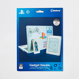 Blue PlayStation gadget decals