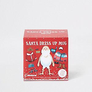 Tasse de Noël tenue de Père Noël rouge