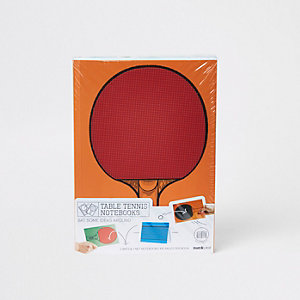 Orange table tennis note books