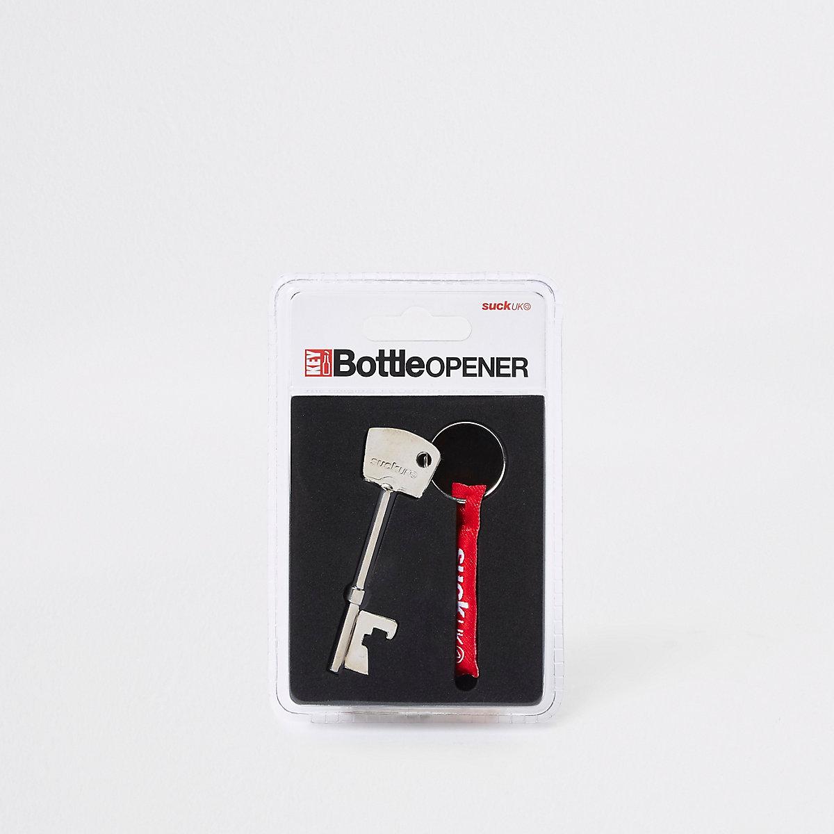 Grey key bottle opener