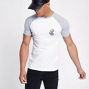 T-shirt ajsuté contrasté blanc