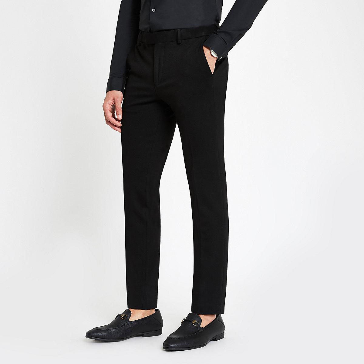 Black super skinny fit suit trousers