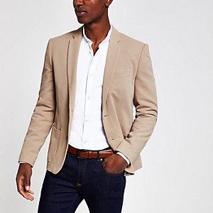 Camel skinny fit blazer