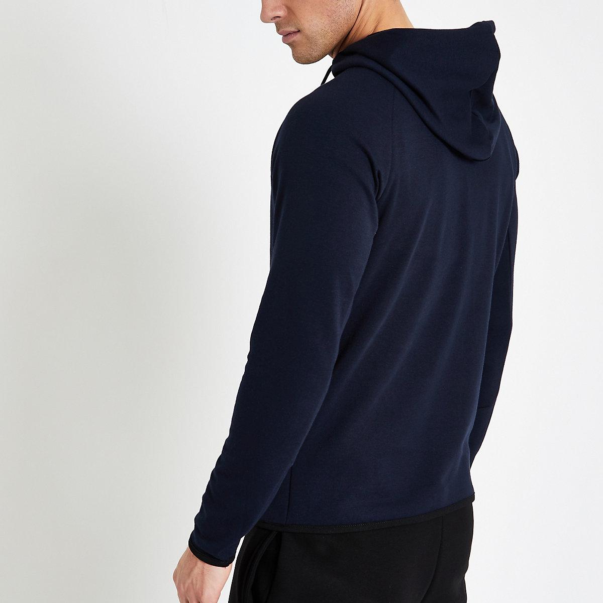 Jack   Jones navy zip up hoodie - Hoodies - Hoodies   Sweatshirts - men 84f41b374b8