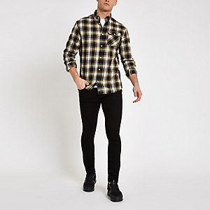 Jack & Jones yellow check shirt