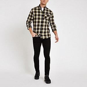Jack & Jones - Geel geruit overhemd