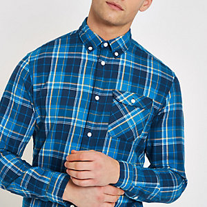 Jack & Jones blue check shirt
