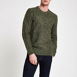 Pepe Jeans – Pull en maille vert
