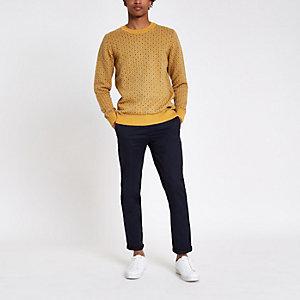 Pepe Jeans - Gele pullover met print