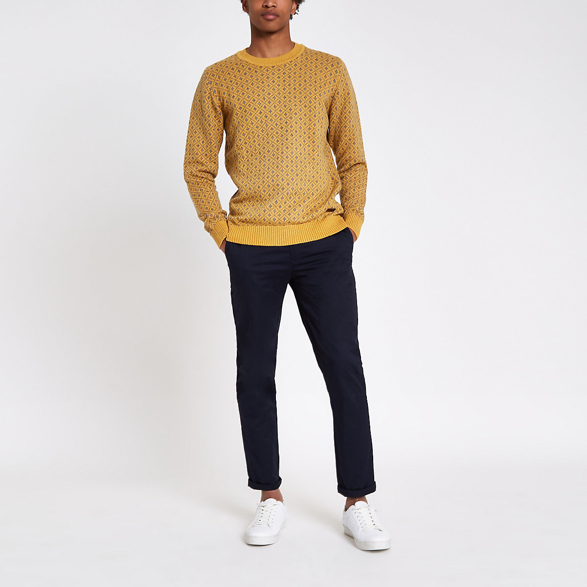 Pepe Jeans yellow print jumper