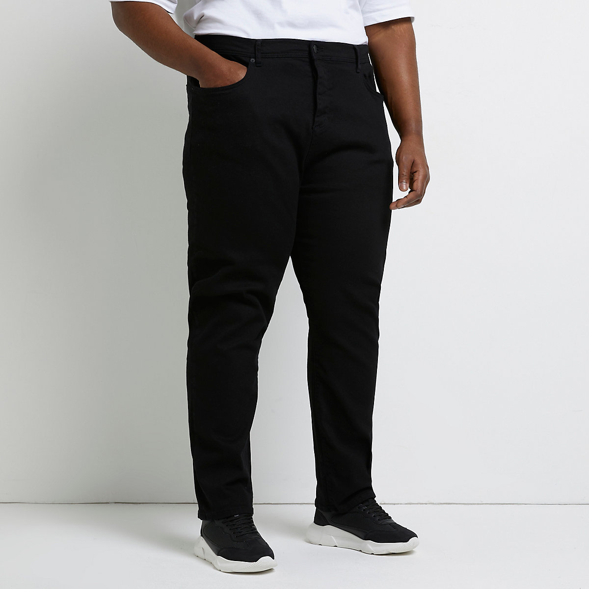 Big and Tall black Dean straight leg jeans