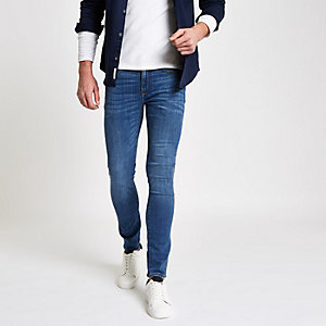 Danny - Middenblauwe superskinny jeans met stretch
