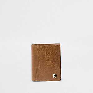Brown fold out wallet
