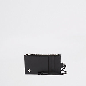 Black lanyard wallet
