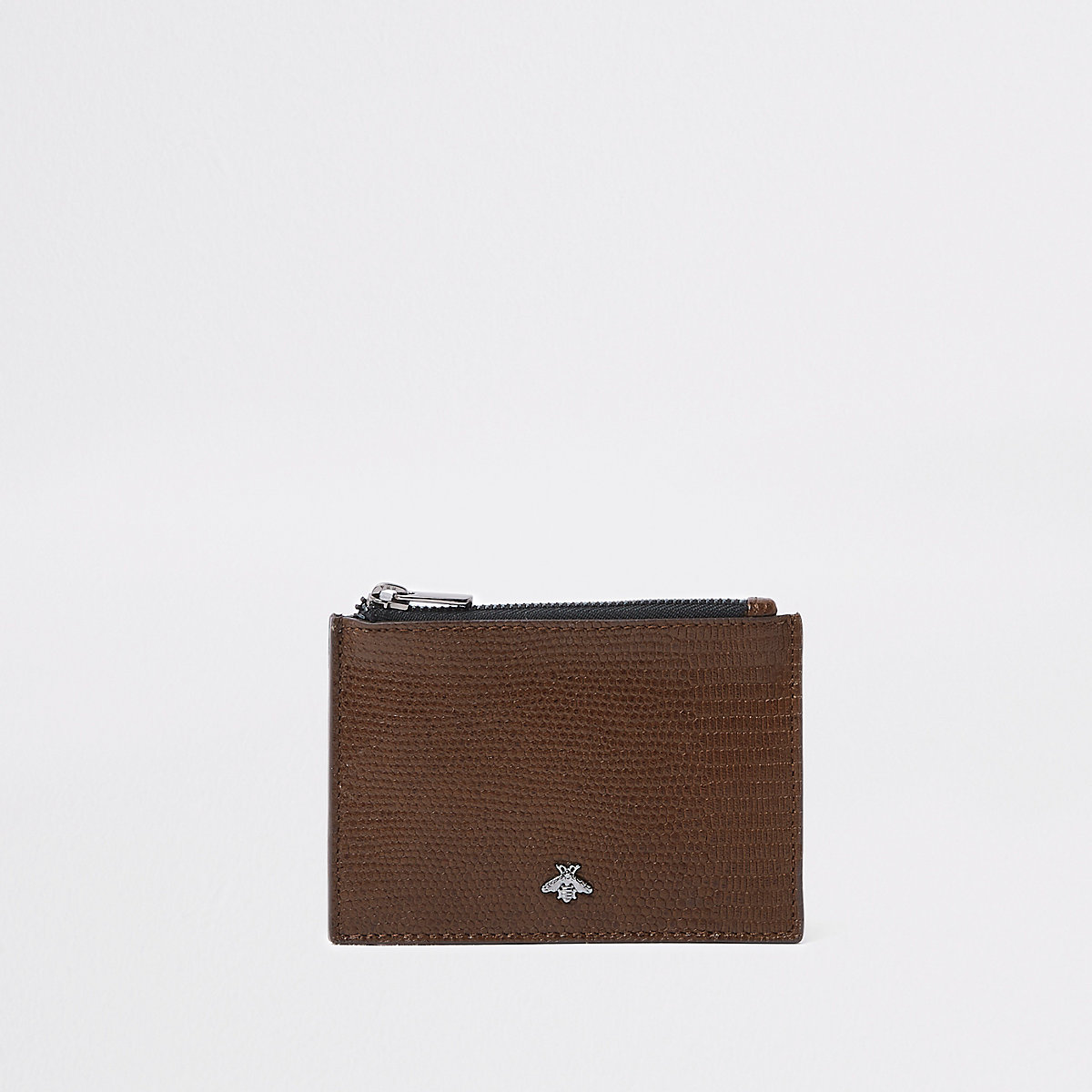 Brown snake embossed card holder