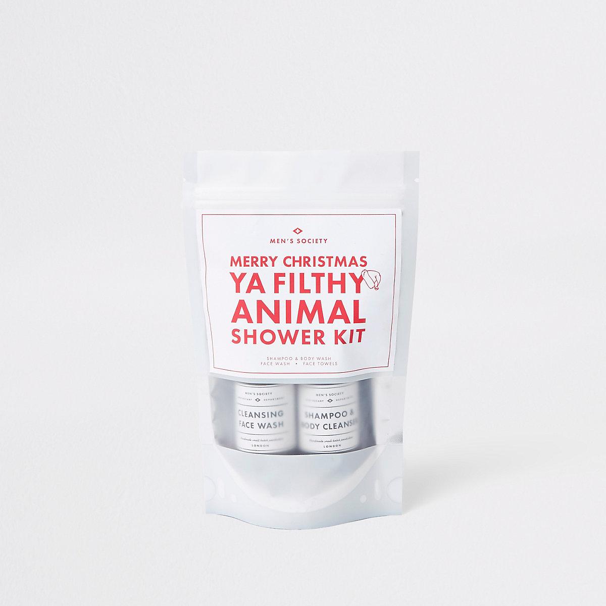 White Christmas shower kit