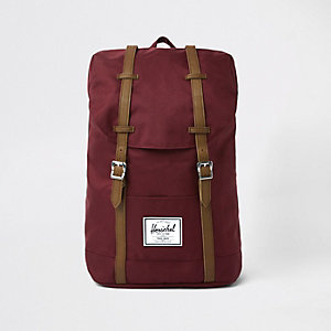 Herschel red retreat backpack