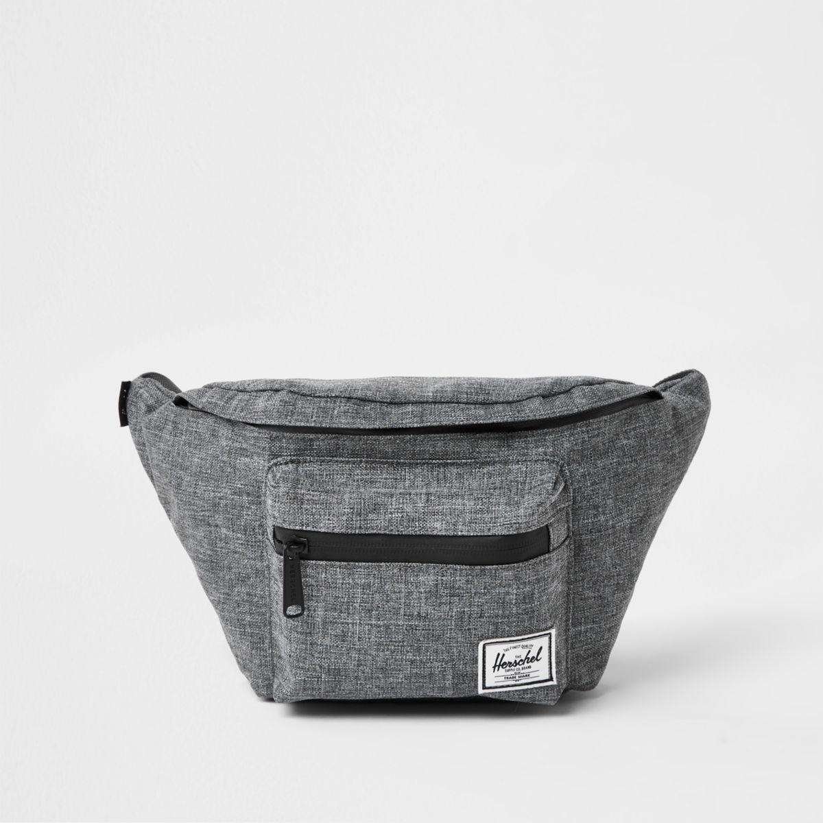 Herschel grey Seventeen crosshatch bum bag
