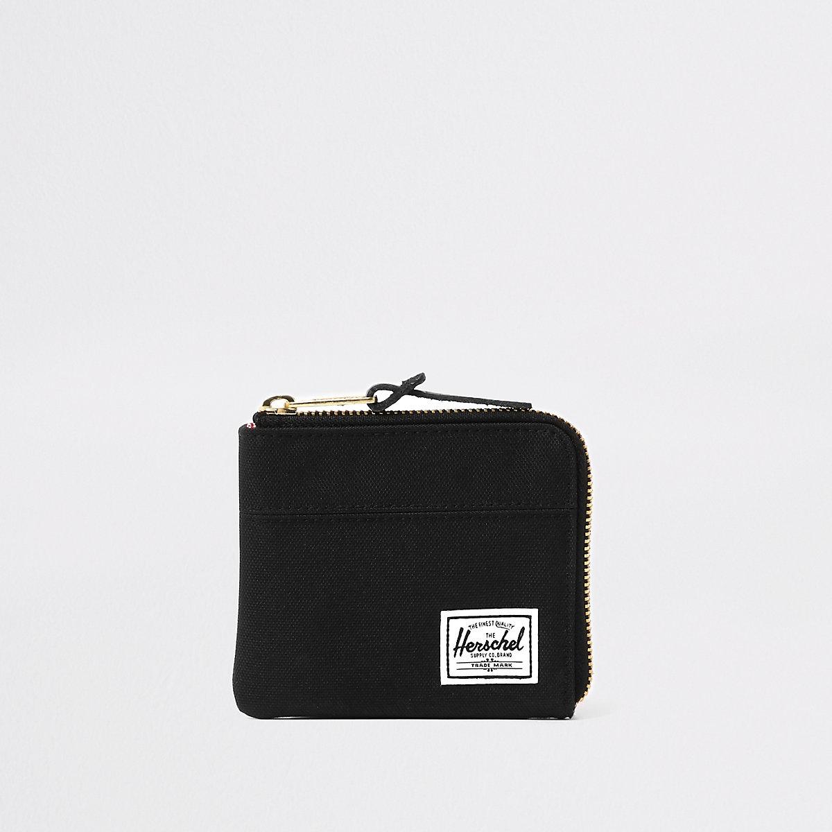 Herschel black Johnny zip wallet