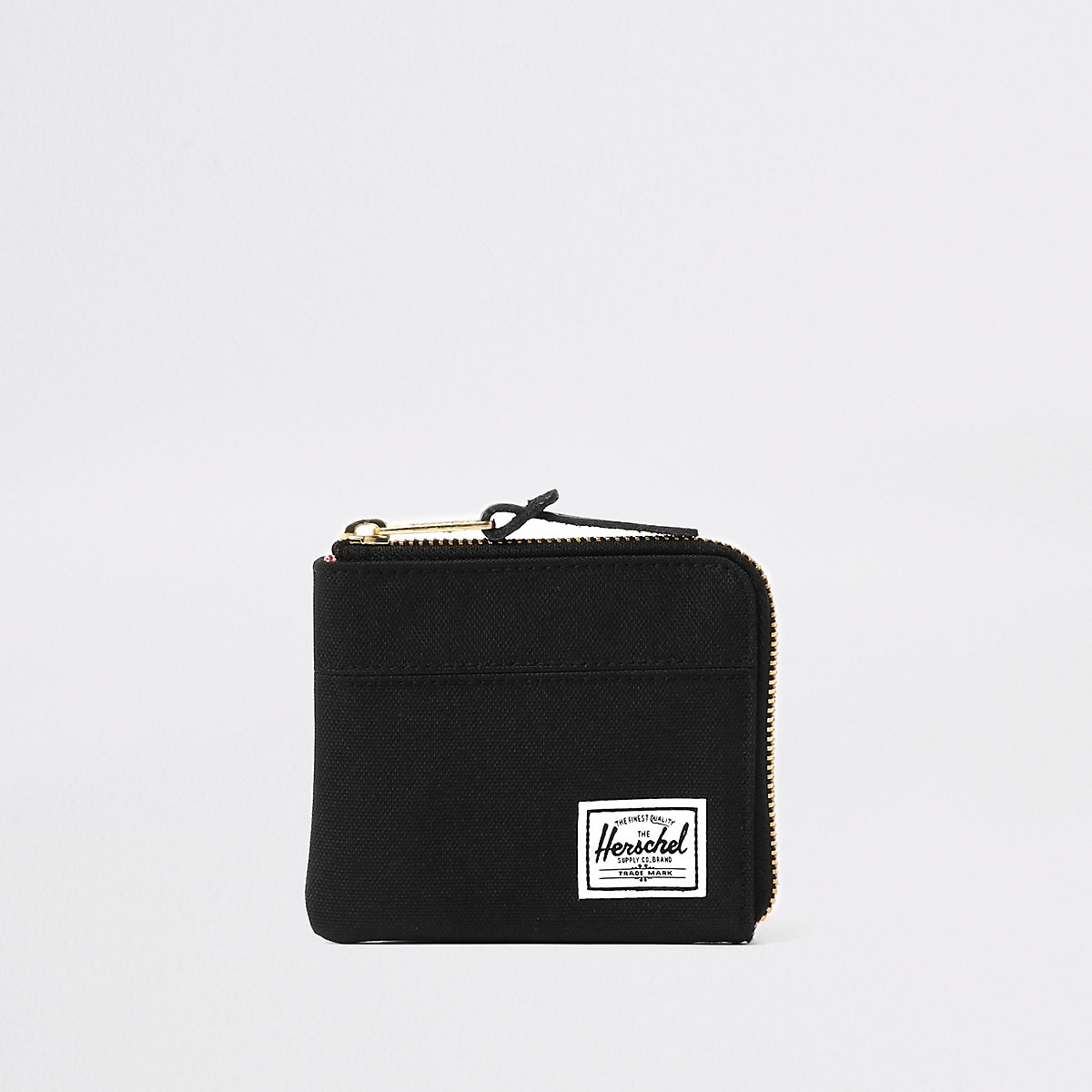 Herschel black Johnny zip wallet
