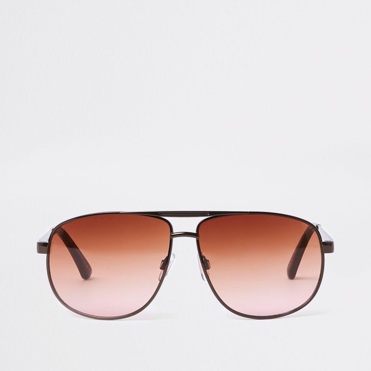 Bronze metal aviator sunglasses