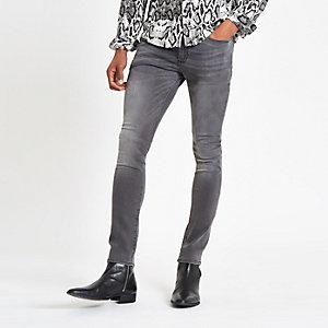 Danny – Graue, dehnbare Super Skinny Jeans