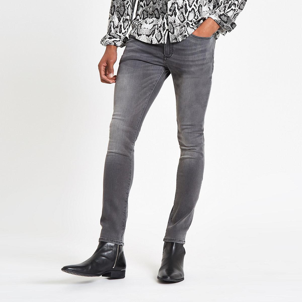 Grey Danny super skinny stretch jeans