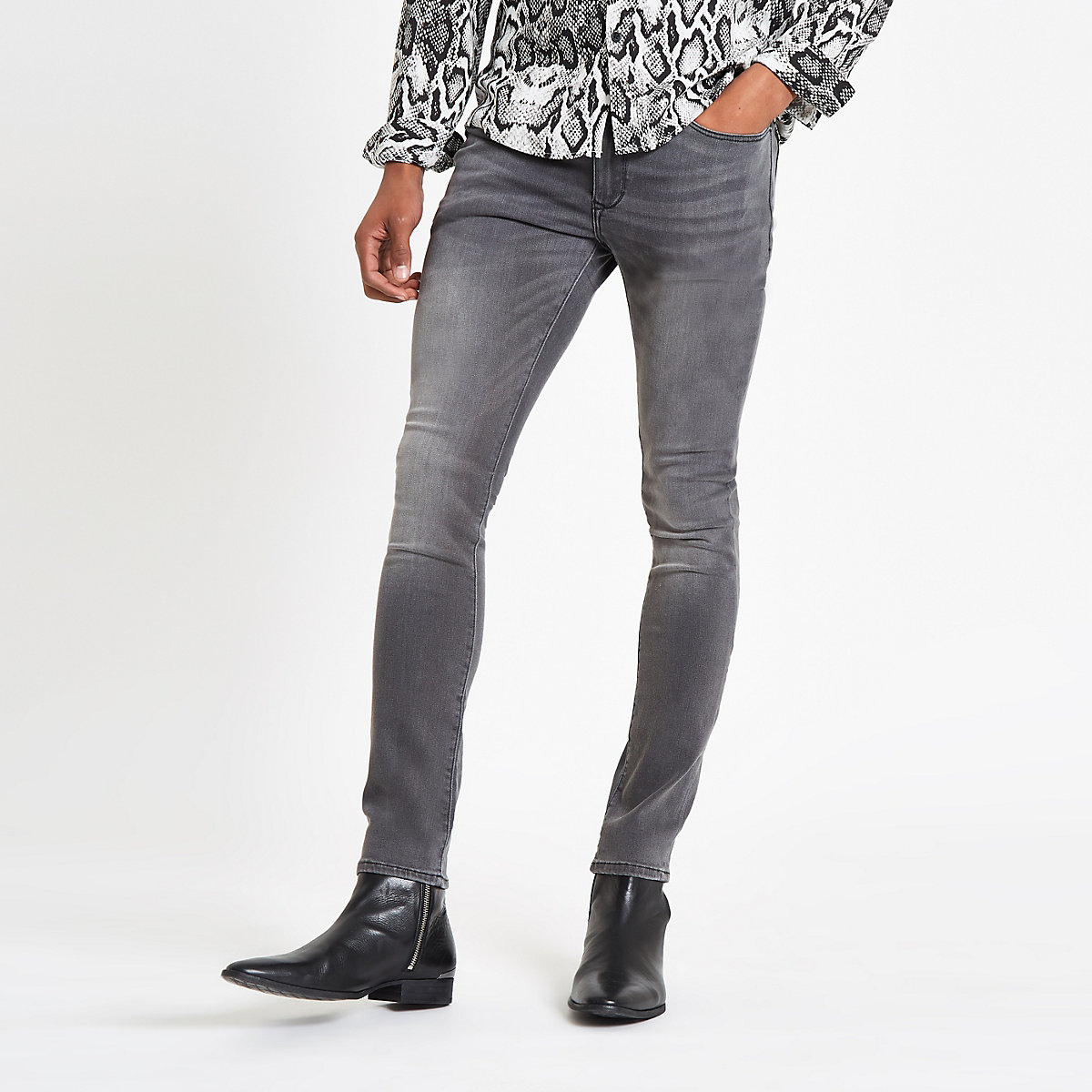 Grey Danny super skinny stretch jeans