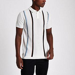 Slim Fit Polohemd mit Streifen