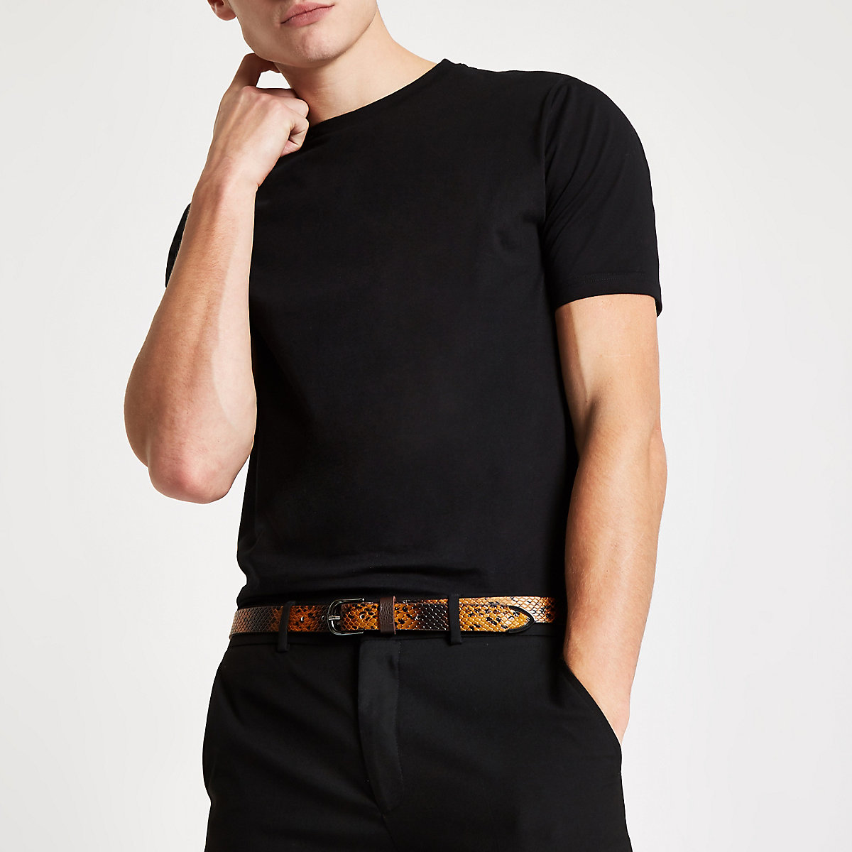 Luxe black slim fit T-shirt