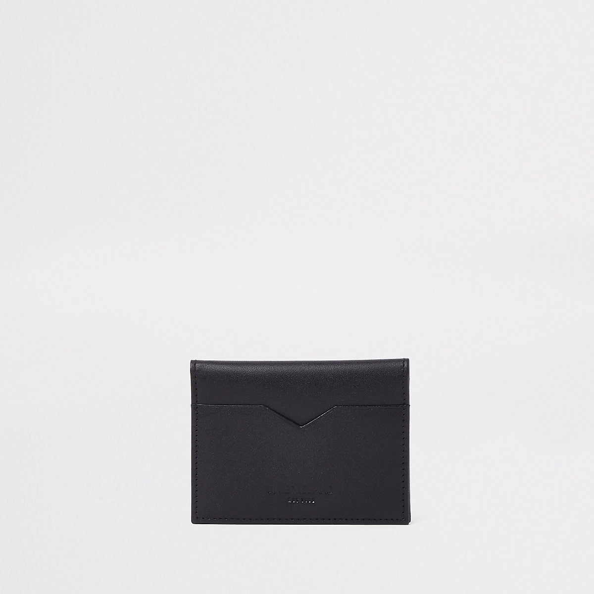 Black leather fold out card holder