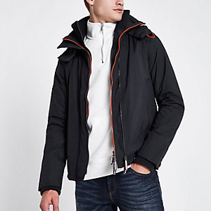 Superdry navy triple zip funnel neck jacket