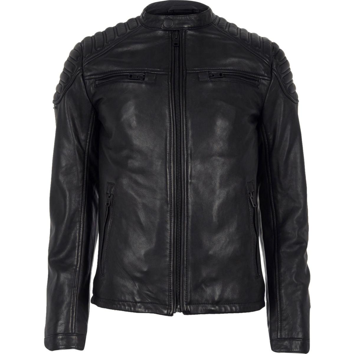 leather Superdry leather black racer jacket Superdry Superdry jacket black racer 1TdB4q