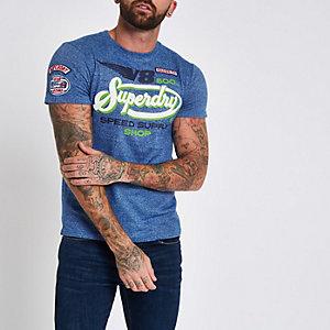 Superdry – T-shirt «V8» bleu